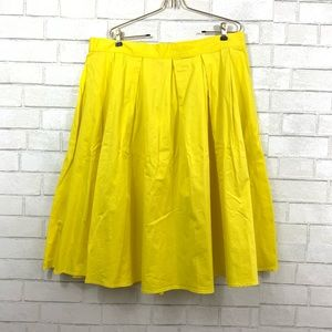 ELOQUII YELLOW A-LINE FULL SKIRT PLUS SIZE 16